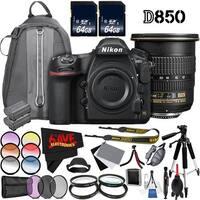 Nikon D850 DSLR Camera (Body Only) 1585 International Model + Nikon AF-S DX Zoom-NIKKOR 12-24mm f/4G IF-ED Lens 2144 Bundle