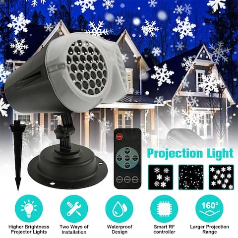 Outdoor Christmas LED Projection Light Remote Control Timer Function Waterproof Laser Lamp for Xmas Holiday Garden Party