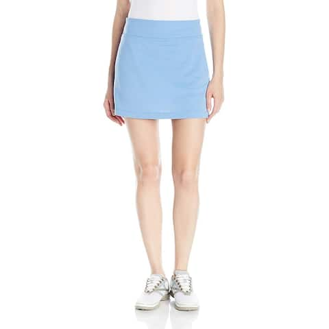 "PGA TOUR Women's 16"" Airflux Solid Knit Skort Provence Size Large - Blue"