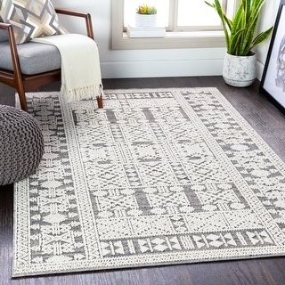 Link to Adhira Indoor/ Outdoor Farmhouse Area Rug Similar Items in Rugs