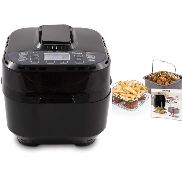 Shop Nuwave Brio Digital Air Fryer 10 Qt Black With 2