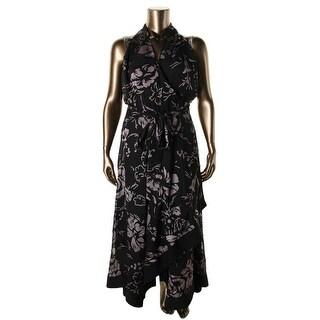 Mynt 1792 Womens Plus Sheer Prom Evening Dress