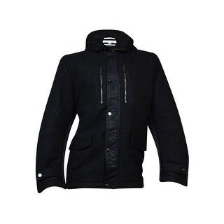 Calvin Klein Hooded Italian-Inspired Jacket (Black, XXL) - xxl