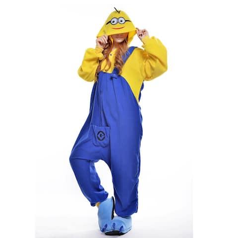 Unisex Adult Pajamas Cosplay Costume Animal one-piece Sleepwear Suit - Yellow - XL