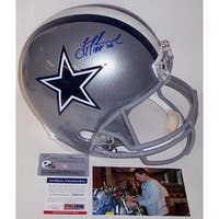 Troy Aikman Autographed Hand Signed Dallas Cowboys Full Size Helmet  PSADNA