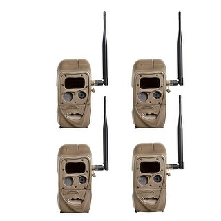 Cuddeback CuddeLink J Series Black Flash Trail Camera (4 Pack)