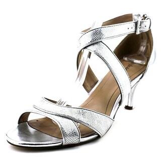 Style & Co Pravati Women Open Toe Synthetic Silver Sandals