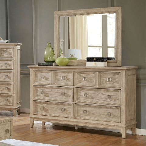 Furniture of America Dazo Transitional Brown Dresser and Mirror Set