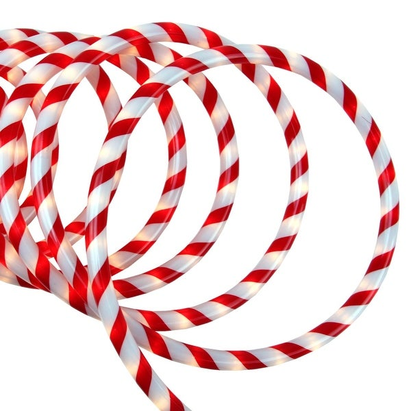 18 red and white candy cane indooroutdoor christmas rope lights