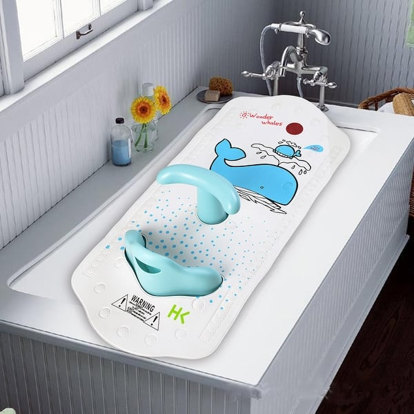Anti Slip Baby Bath Mat With Seat For Kids And Toddler Square Bath Mats For Tub And Bathroom Floor Shower 15 75 X 35 83 Overstock 18004094