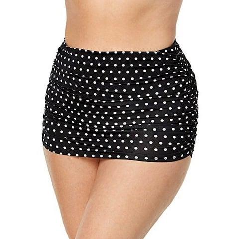 Ralph Lauren Women's Plus Size Polka Dot Ultra High-Waist Hipster Bikini Bottoms, (20W)
