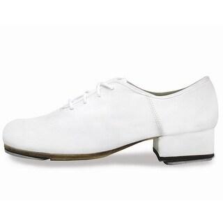 "Sansha Women White 1 1/4"" Heel ""T-World"" Lace-up Oxford Tap Shoes"
