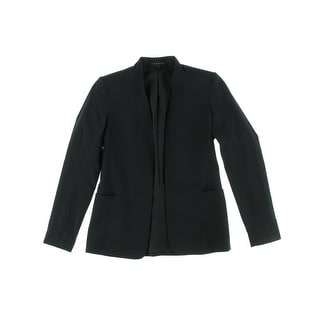 Theory Womens Kacela Collarless Blazer Wool Long Sleeves