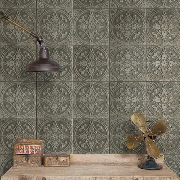 """SomerTile Saja Nero 13"""" x 13"""" Ceramic Floor and Wall Tile. Opens flyout."""