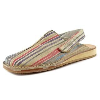 Momino Vitello Square Toe Leather Slipper