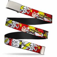 Blank Chrome  Buckle Flash The Crimson Comet Webbing Web Belt