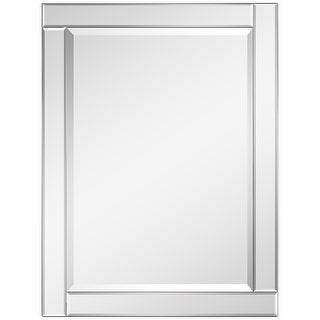 """Link to Beveled Rectangle Wall Mirror,Solid Wood Frame,1""""-Beveled Center, Bathroom,Bedroom,Living Room,Ready to Hang - Clear Similar Items in Mirrors"""