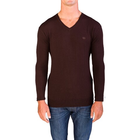 Valentino Men's V-Neck Sweater Burgundy