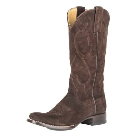 Stetson Western Boot Womens Rough Corded Brown