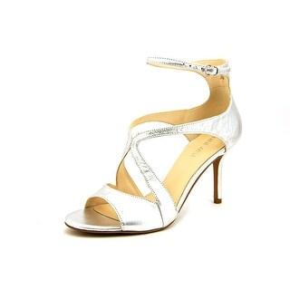Nine West Gerbera Women Open-Toe Leather Silver Heels