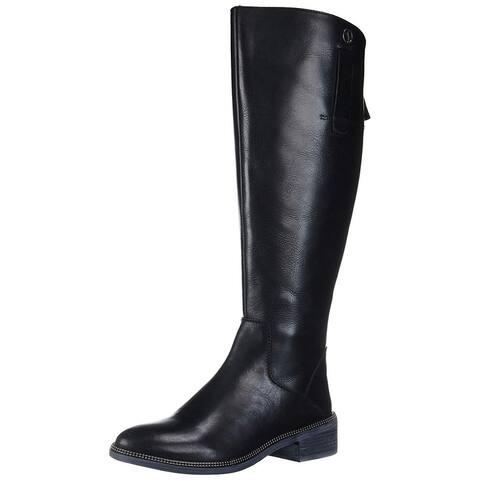 Franco Sarto Womens G7625L1 Leather Closed Toe Knee High Fashion Boots