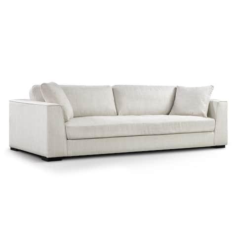Poly and Bark Upholstered Neutral Fabric Capri Sofa