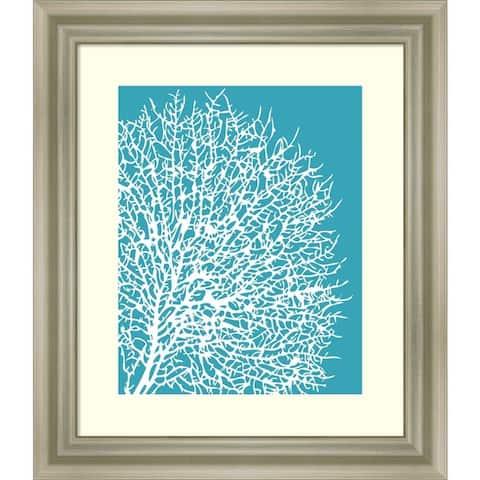 Aqua Coral II by Sabine Berg Framed Wall Art Print