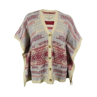 Lucky Brand Women's V-Neck Cardigan Sweater - Multi - os