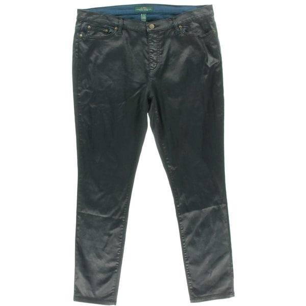 LRL Lauren Jeans Co. Womens Skinny Jeans Coated High Waist