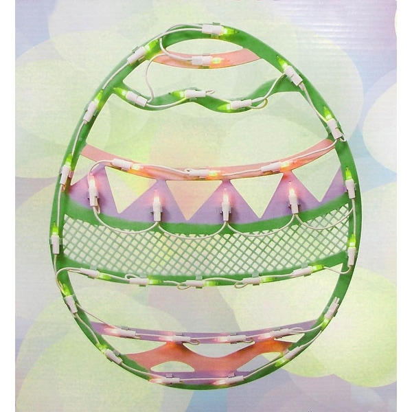 Shop 15 75 Quot Lighted Pastel Colored Easter Egg Spring