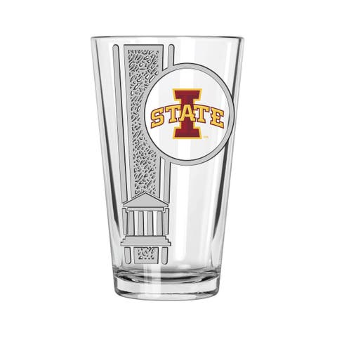 Iowa State Cyclones 16oz Etched Decal Pint Glass