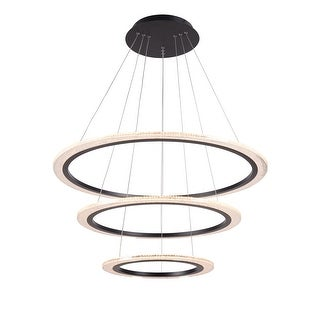 Link to Zunder 3-tiered dimmable LED Chandelier - N/A Similar Items in Chandeliers