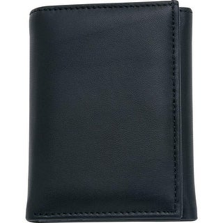 Embassy Men's Solid Genuine Leather Tri-Fold Wallet