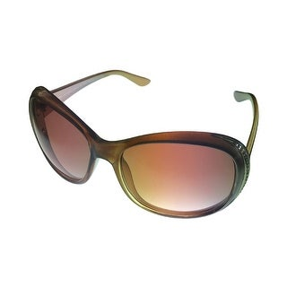 Esprit Womens Sunglass Taupe / Crystal Stone Front, Oval Plastic 19372 535 - Medium