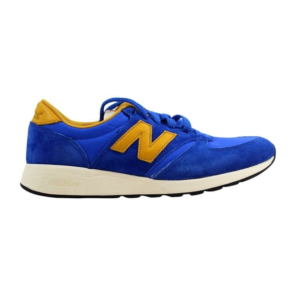 New Balance 420 Re-Engineered Suede Blue/Gold MRL420SV Men's - On ...