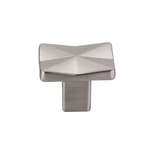 """Top Knobs TK560 Quilted 1-1/4"""" Long Rectangular Cabinet Knob from the Mercer Series"""