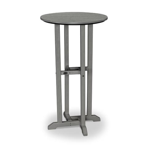 """POLYWOOD Traditional 24"""" Round Bar Table"""