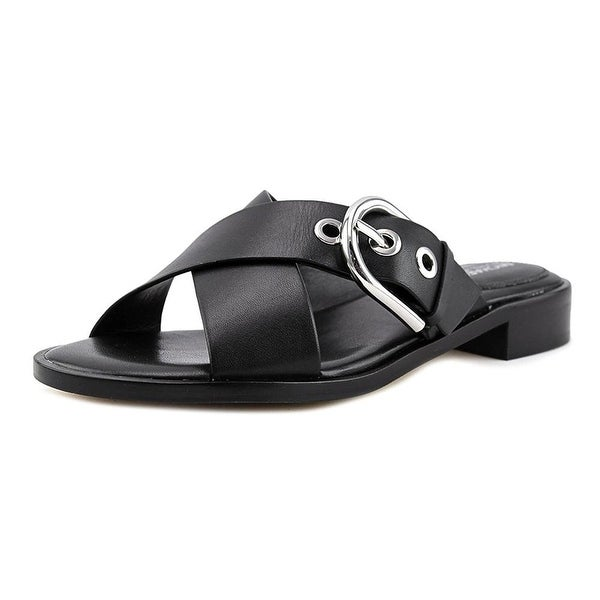 MICHAEL Michael Kors Womens Cooper Leather Open Toe Casual Slide Sandals