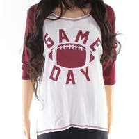 "Moa Moa Burgundy Womens Small ""Game Day"" Knit Top"