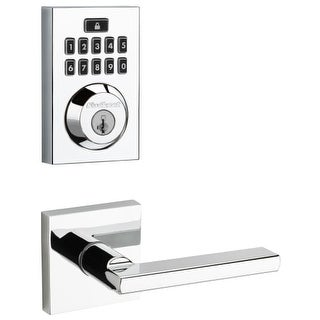 Kwikset 913CNT-HFLSQT-S SmartCode Touchpad Electronic Deadbolt with Halifax Leve