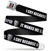 The Big Bang Theory Full Color Black White Red Sheldon I Cry Because Others Seatbelt Belt