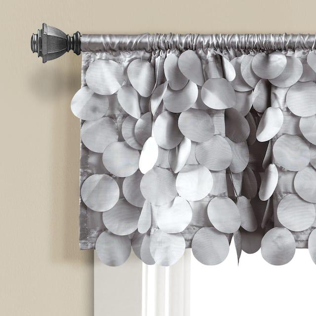 Lush Decor Gigi Window Curtain Valance - Light Gray