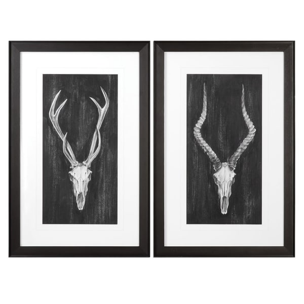 8ce38640a5 Shop Uttermost 33648 Rustic European Mounts Two Piece Framed Animal Print  Set by Grac - N A - Free Shipping Today - Overstock.com - 22917119