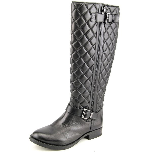 Vince Camuto Fredrica Women Round Toe Leather Black Knee High Boot