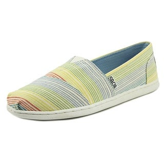 Bobs by Skechers Bliss Open Heart Women Round Toe Canvas Multi Color Flats