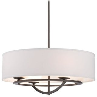 "Kovacs P1814-172 4 Light 24"" Width Drum Pendant from the Circuit Collection"