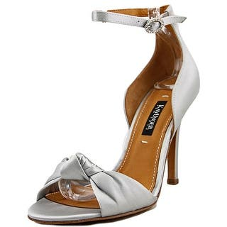 Kay Unger Conyer W Open-Toe Canvas Slingback Heel|https://ak1.ostkcdn.com/images/products/is/images/direct/30ebbaf090b44f515e8c7f1547ec4dcb2a9ed154/Kay-Unger-Conyer-Women-W-Open-Toe-Canvas-Silver-Slingback-Heel.jpg?impolicy=medium