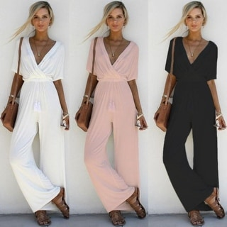 Link to New Cross Deep V-Belt Waist Jumpsuit Similar Items in Outfits