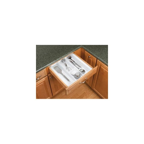 Rev-A-Shelf UT-15-52 UT Series 17-1/2 Inch Wide Trimmable Cutlery Tray Insert - N/A