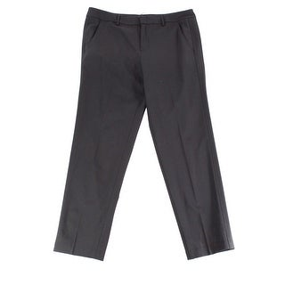 Vince NEW Black Women's 12 Front Tab Solid Dress Pants Wool